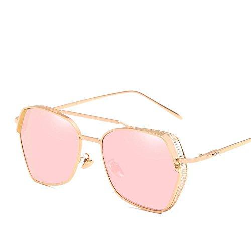 Aoligei Épais-bord lunettes de soleil de personnalité européenne et américaine de maille creuse marée hommes et femmes générales lunettes de soleil zeu4rCNH
