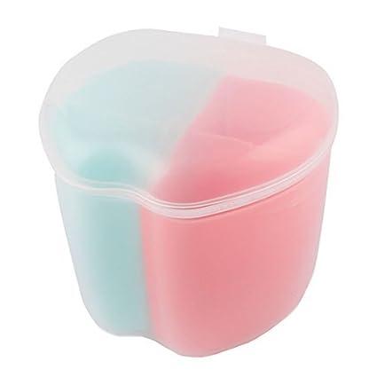 eDealMax plástico del hogar Utensilios de cocina forma de manzana 4 compartimientos Caja Condimento Especias Contenedor