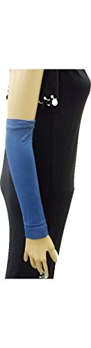 Stretch Veil (Arm Stretch Sleeves Cover Glove Veil Hejab Hijab Islam for Modest Muslim Abaya (Dark Blue) 382)