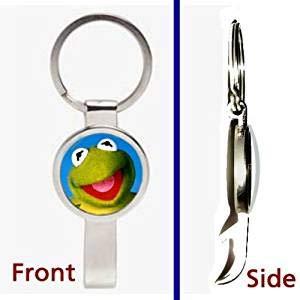 Kermit The Frog Muppets Pendant or Keychain Silver Tone Secret Bottle Opener (Tone Frog Pendant)