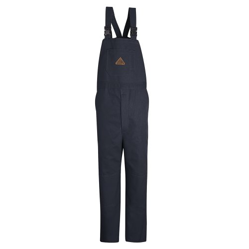 Bulwark Flame Resistant 11 oz Cotton/Nylon Excel FR ComforTouch Regular Duck Unlined Bib Overall with Two Large Hip Pockets, Navy Duck, 2X-Large by Bulwark FR