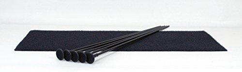 Pack Rod Kit (5 Rifle Rods Starter Kit Gun Storage Solutions Pack of 5 Rifle Rods Starter Kit with Loop Fabric (8 x 19