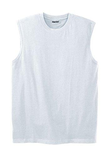 - KingSize Men's Big & Tall Lightweight Cotton Muscle Shirt, White Big-6Xl