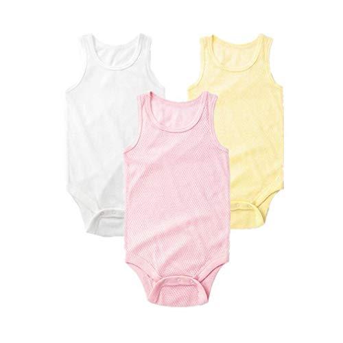 Krastal Baby Clothes 3pcs/Pack Mesh Breathable Vest Soft Cotton Jumpsuits Sleeveless Baby Bodysuit