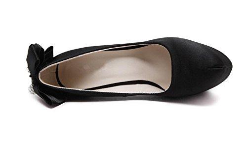 Alto Corte Altos Zapatos Las XIE Toe Mujeres de Mujer los del Talón Zapatos 38 del de los de la Satén la de 16Cm Talones 36 Atractivos Cerrado pwxAdxR8q