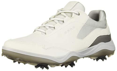ECCO Men's Strike Gore-TEX Golf Shoe, White Yak Leather, 7 M US