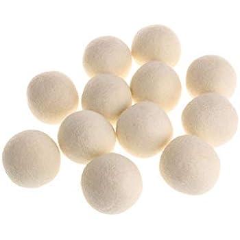Laundry Clean Ball Reusable Natural Organic Laundry Fabric Softener Ball Premium Organic Wool Dryer Balls,7Cm