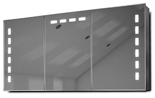 DIAMOND X COLLECTION Delfine LED Bathroom Mirror Cabinet with Demister Pad, Sensor - Mirrors Cabinet 1200 Bathroom