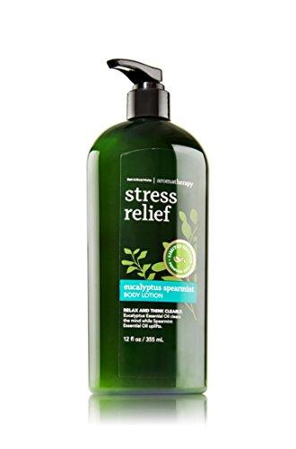 Bain corps œuvres aromathérapie Stress Eucalyptus menthe verte Bonus taille Body Lotion, Limited Edition 12 onces