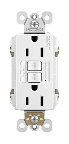 Legrand - Pass & Seymour radiant 1597NTLTRWCC4 15 Amp Combination LED Night Light/Tamper-Resistant Self-Test GFCI Safety Outlet, White, Matching Wall Plate Included