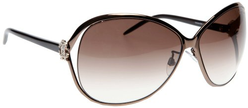 Price comparison product image Roberto Cavalli Women's RC500 Round Sunglasses, Bronze Brown Pearl Frame / Gradient Brown Lens, one size