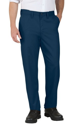 Dickies Occupational Workwear LP700NV 32x34 Polyester/Cotton Relaxed Fit Men's Premium Industrial Flat Front Comfort Waist Pant with Straight Leg, 32