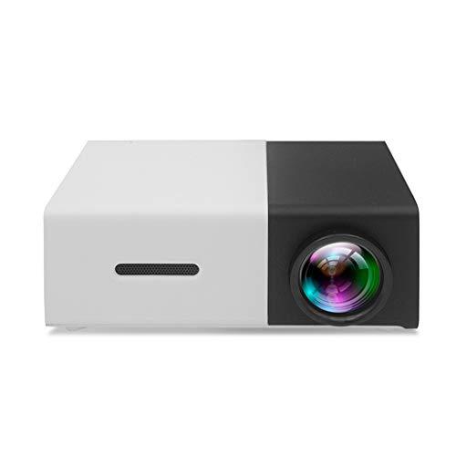 QTT Mini Projector, Handheld Mini-Mini Portable Home LED Projector (Black and White) from QTT