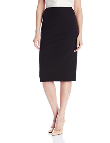 Kasper Women's Stretch Crepe Skimmer Skirt, Black, 10