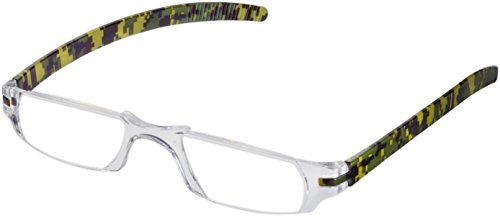 Fisherman Eyewear Slim Vision Rimless Reading Glasses with Temples (+1.75), Camouflage