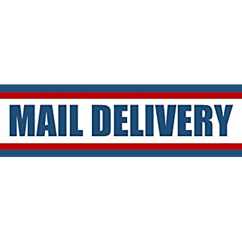 Usps bumper decal sign mail delivery carrier decal usps 3x10