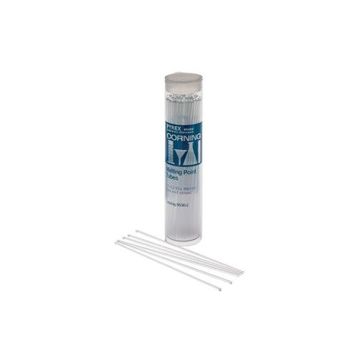Corning 9530-3 Pyrex Capillary Melting Point Tube, One End Open, 0.2 mm Wall Thickness (Pack of 100)