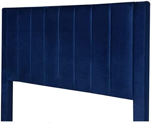 Amolife Queen Size Platform Bed Frame/Velvet Upholstered with Headboard and Strong Wooden Slats Support/Mattress Foundation/Easy Assembly, Dark