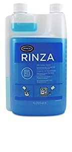 Urnex Rinza Alkaline Formula Milk Frother Cleaner - 33.6 Ounce [Over 30 Uses] - Breaks Down Milk Protein Fat and Calcium Build Up Cycles Through Auto Frother Cleans Lines Steam Wands & Steel Pitchers by Urnex