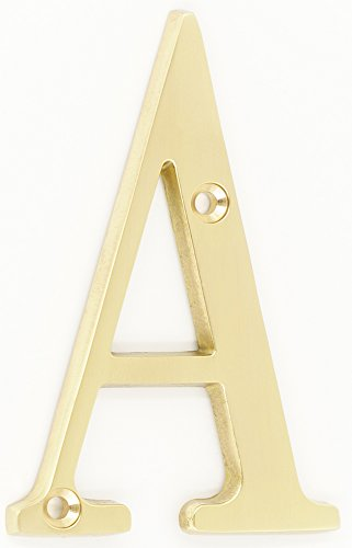 ZW Hardware B100 4 Inch Bright Brass House Letter A