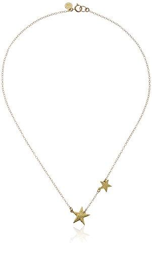"gorjana Super Star Gold-Tone Double-Star Charm Necklace, 17"""