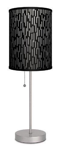 Lamp-In-A-Box SPS-VAR-BLARA Various Black Rain Camo Sport Lamp, Silver
