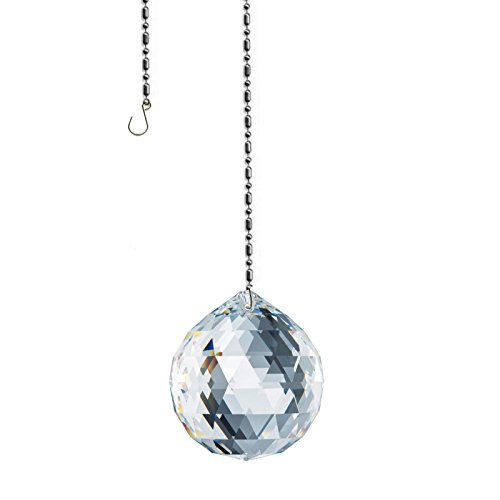 Swarovski 30mm Ball Prism Suncatcher, Rainbow Maker, Feng Shui crystal Amazing Clarity & Shine with Strass Logo Engraved by CrystalPlace