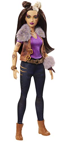 """Disney Zombies 2, Wynter Barkowitz Werewolf Doll (~11.5inch) Wearing Rocker Outfit and Accessories, 11 Bendable """"Joints,"""" Great Gift for Ages 5+"""