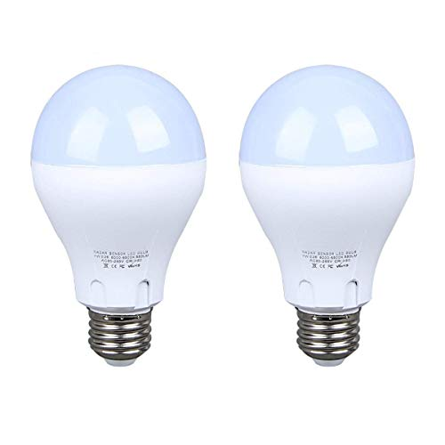 (Motion Sensor Light Bulb 7W(60W Equivalent) Radar Smart Bulb Dusk to Dawn LED Motion Sensor Bulbs E26 Base Indoor Sensor Night Lights Soft White 6500K Outdoor Motion Sensor Bulb Auto On/Off(2 Pack))
