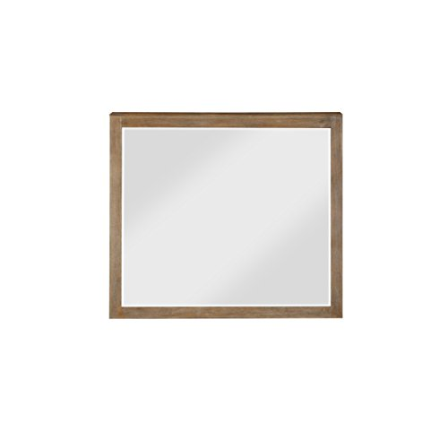 Emerald Home Torino Weathered Brown Mirror with Dresser Attachment