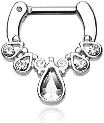 Amazon Com Wildklass Jewelry Septum Clicker 16g 1 4 6mm Radiant
