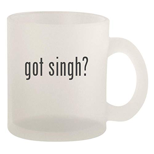 got singh? - Glass 10oz Frosted Coffee Mug (Life Five Best Ghazals Jagjit Singh)