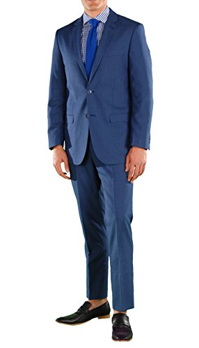 ew Blue Slim Fit 2pc Suit ()