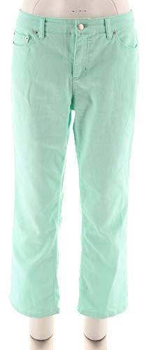 Liz Claiborne Ladies Jeans - Liz Claiborne NY Jackie Colored Ankle Jeans A261298, Light Aqua, 10