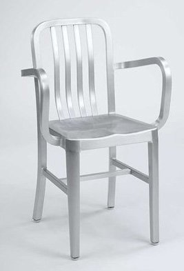 Alston Quality AC2700AR Aluminum Dining Armchair