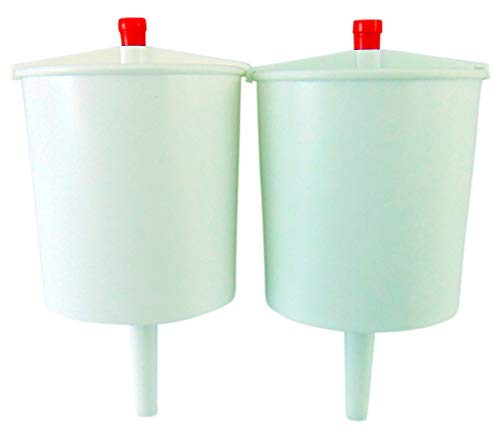 (White Plastic Push Button Lever Hand Communion Cup Filler Church 5 Inch, Set of 2)