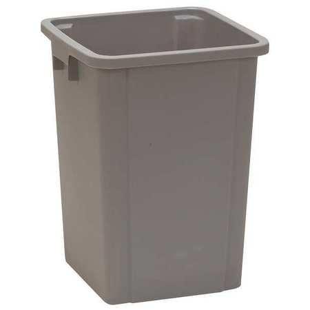 Square Wastebasket - 19 gal. Square Gray Trash Can