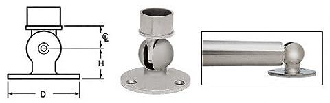 C.R. LAURENCE HR15PFBS CRL Brushed Stainless Adjustable Flange for 1-1/2