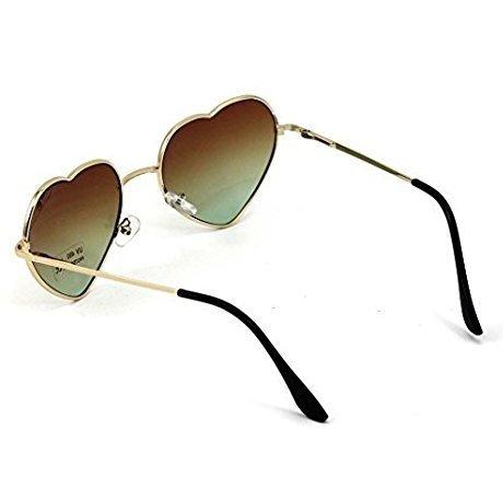Gafas de con corazón de Diseño Montura de AAA corazón metálica con Cristoferv con Sol para Mujer Forma Forma F5zndFAq