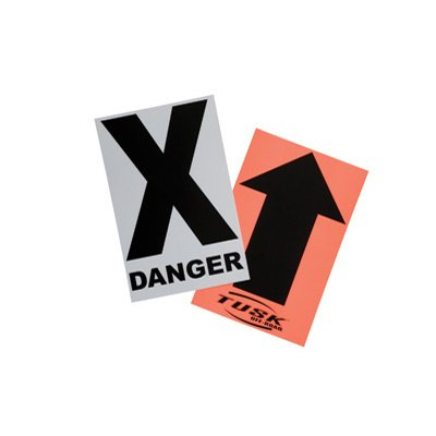 Course Markers - Tusk Course Marker Black Arrow and Danger X Sign Pack of 50