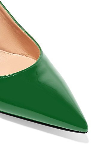 5cm Pumps Kitten Pointed Women's Suede Stiletto Toe Slingback Soireelady Evening Strap Heels Shoes Ankle Pumps Green 6 8xwXn7Xqd