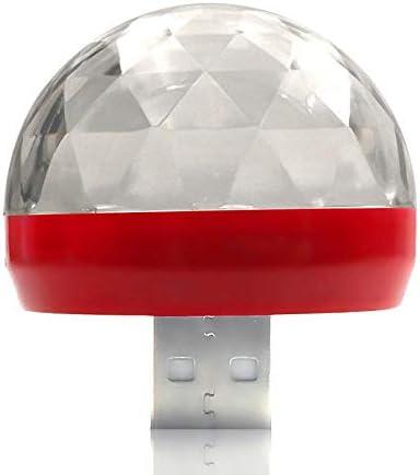 【GFA】LED自動車USB雰囲気灯DJミニカラー音楽音響灯