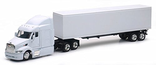 NEWRAY 1:43 LONG HAUL TRUCKER - PETERBILT MODEL 387 (PLAIN WHITE) Toy Tractor Collectors