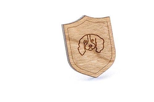 (English Springer Spaniel Lapel Pin, Wooden Pin )