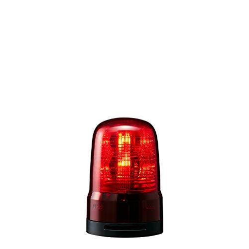 パトライト 回転灯 SF08-M1KTB-R Φ80 DC12~24V 発光パターン(22種) 赤色 ブザー付 2点穴式取付 プッシュイン端子台