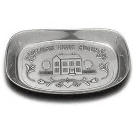 - Wilton Armetale Bless This House Bread Plate, 9.5