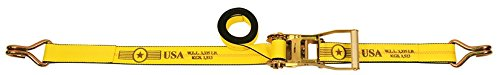 10 Pack of 2'' x 30' Ratchet Tie Down Strap with Wire Hooks - w/ Webbing Made in USA | TieDownsPlus