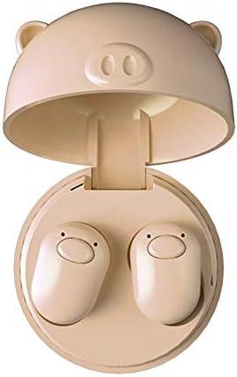 Cetengkeji ミニトゥルーTWSかわいい豚TWS 5.0ミニブルートゥースイヤホンワイヤレススポーツヘッドフォン3Dステレオヘッドセット(マイク付き) (Color : Skin color)