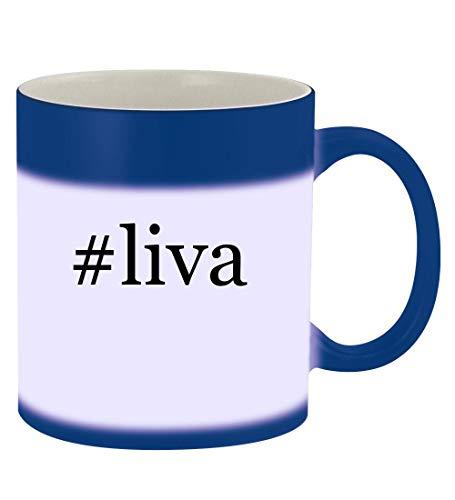 - #liva - 11oz Hashtag Magic Color Changing Mug, Blue