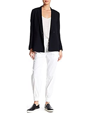 Cortlandt' Linen-Blend Joggers Casual Pants, White